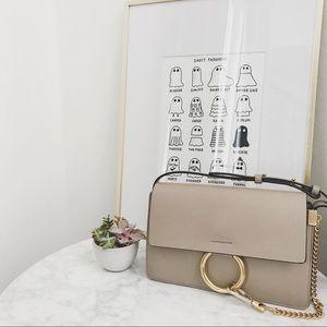 Chloe Motty Grey Leather Small Faye Bag